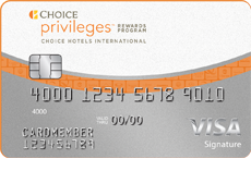 Image of the Choice Privileges® Visa Signature® Card