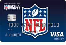 Image of the NFL Extra Points Credit Card